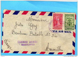 MARCOPHILIE- Lettre AVION PANAMA1948 Cachet  SECCION EXTERIOR  Pour Françe-bel Affranchissement - Panama