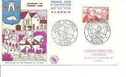 Journ�e du timbre -Fran�ois de Tassis ( FDC d'Alg�rie de 1956 � voir)