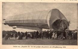 Original Zeitungsausschnitt - 1911 - Unfall Des ZEPPELIN II.  !!! - Fliegerei