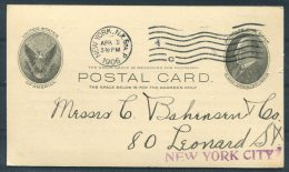 1906 USA New York Private Stationery Postcard Cunard Steamship Company S.S. Etruria - United States