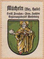 Werbemarke (Reklamemarke, Siegelmarke) Kaffee Hag : Wappen Von Mücheln - Tea & Coffee Manufacturers