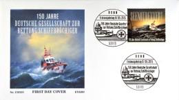 Bund BRD Ersttagsbrief FDC, Nr. 3153 nassklebend, Schiffbr�chiger, 7. Mai 2015