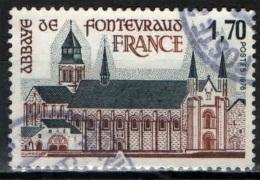 FRANCIA - 1978 - TURISMO IN FRANCIA: ABBAZIA DI FONTEVRAUD - USED - Oblitérés