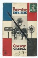 CPA  Décollée En 3 Feuillets - Frontiere - Grenze - Française - Allemande - Douane , Douaniers - France