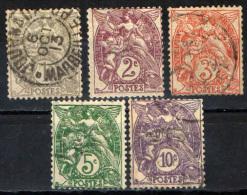 FRANCIA - 1900 - LIBERTA' UGUAGLIANZA FRATERNITA' - ALLEGORIA TIPO BLANC - USED - Gebraucht