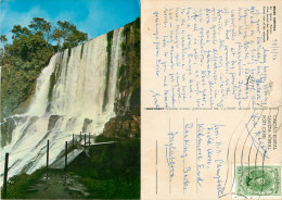 Iguazu Falls, Argentina Postcard Posted 1973 Stamp - Argentina