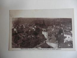 Saint -Junien (87) Panorama vers la mairie et l'�cole Sup�rieure en 1936