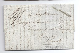 France Stampless Cover H/S Aix-les-Bains M/S 41 To Romsey Hants B/S London June 15 1837 Arival - Sin Clasificación