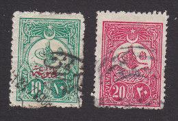 Turkey, Scott #P56-57, Used, Tughra Overprinted, Issued 1908 - 1858-1921 Ottoman Empire