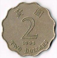 Hong Kong 1993 $2 - Monnaies & Billets