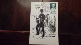 JOURNEE DU TIMBRE 1949  MARSEILLE   CHOISEUL  FACTEUR DISTRIBUANT LE COURRIER