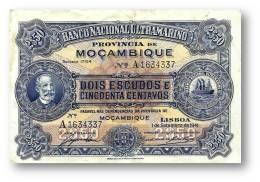 MOZAMBIQUE - 2$50 - ( 2,5 ) 2 1/2 ESCUDOS - 01.09.1941 - P 82 - F. De OLIVEIRA CHAMIÇO - PORTUGAL - Mozambique