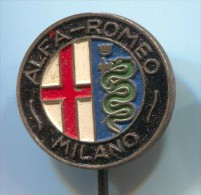 ALFA ROMEO Milano - Car  Auto  Automobile, Vintage Pin  Badge - Alfa Romeo