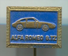 ALFA ROMEO GTZ - Car  Auto  Automobile, Vintage Pin  Badge - Alfa Romeo