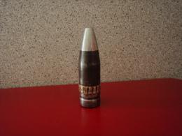SUPERBE OGIVE D�OBUS 30mm T�TE ALUMINIUM BAGUE CUIVRE HAUTEUR 108mm