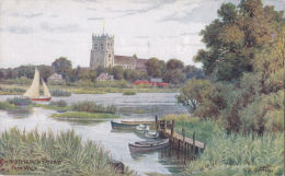 A.R. QUINTON. CHRISTCHURCH PRIORY FROM WICK - Quinton, AR