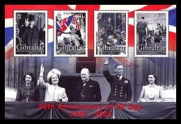 Gibraltar 2005 - 60e Ann De La Victoire 2e Guerre Mondiale, Wiston Churchill - BF Neufs // Mnh - Gibraltar
