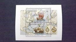 Färöer 233/4 Block 5 Oo/ESST, EUROPA/CEPT 1992, 500. Jahrestag Der Entdeckung Von Amerika - Faroe Islands