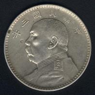 China, 1 Dollar Jahr 3 (=1914), Silber, KM 329 - Cina