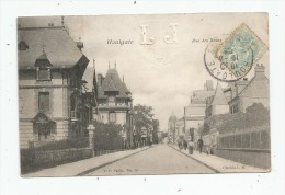 Cp , 14 , HOULGATE , Rue Des Bains , Voyagée , INITIALES GAUFREES LJ  Au Centre Haut - Houlgate