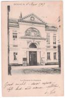 Nord 59 - DOUAI Et Le Palais De Justice Tribunal Loi Belle Vue Sur L'entrée Horloge CP Precurseur Rail Tramway - Douai