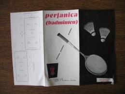 Perjanica (badminton) Tovarna Sportnega Orodja Begunje Na Gorenjskem ELAN - Publicités