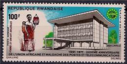 RWANDA 1971 - Union Postale Afrique Et Madagascar - 1 Val Neuf // Mnh - Poste Aérienne