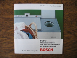 BOSCH Waschautomaten Und Wascheschleudern Fur Jeden Anspruch - Publicités