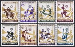 RWANDA 1972 - J.O. Munich 1972 - 8 Val Neuf // Mnh