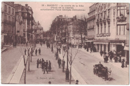 RARE Pyrenees-Atlantiques 64 - BIARRITZ Le Centre Ville Place De La Liberté Clemenceau Animation Caleche Commerce Jugand - Biarritz