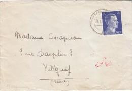 1942 - Lettre Avec Censure  Allemande De Pfaffenhofen Pour Villejuif (sic) ! - FRANCO DE PORT - Alsace-Lorraine