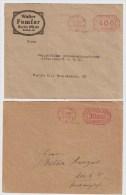 DR, 1922/23, 2 Ortsbriefe, Freistempel   #1587 - Briefe U. Dokumente