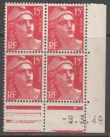 N° 813 - X X - Daté 09/03/49 - Ecken (Datum)