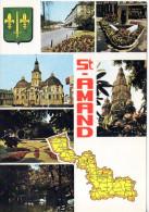 CP  - SAINT AMAND LES EAUX - NC 243 - PIERRON - MULTIVUES - CARTE - Saint Amand Les Eaux