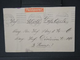 ALLEMAGNE-Enveloppe De Nurnberg  En Franchise Avec  Etiquette Feldpost   En 1916     A Voir    LOT P5045 - Covers & Documents