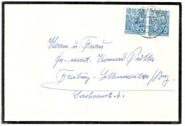 Deutschland DDR 1955 Michel 453 X2 Gestempelt Auf Trauerbriefumschlag Von Halle/Saale Nach Freiburg - DDR
