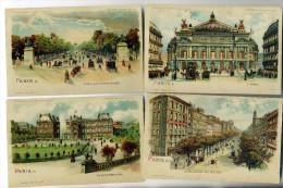 75.Paris.Série De 17 Cartes Colorisées (edifices ,monuments,rues Etc...) - Sin Clasificación