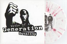 VOICE OF A GENERATION - Equality - 45t - DIRTY PUNK - MASS PROD - PUNK - SUEDE - Vinyl Blanc Marbré Rouge - Punk