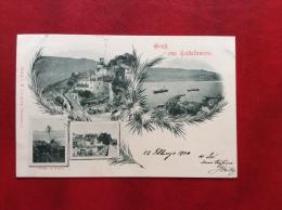 MONTENEGRO - GRUSS AUS CASTELNUOVO - ANNULLO CASTELNUOVO PRESSO CATTARO - VIAGGIATA A BOLOGNA NEL 1900 - Montenegro