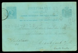 HANDGESCHREVEN BRIEFKAART Uit 1892 Van DORDRECHT Naar FRANKFURT * VOORDRUK  (9799i) - Postal Stationery
