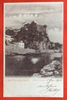 MONTENEGRO -  CASTELNUOVO  - PORTS MARE - NOTTURNO   - VIAGGIATA A BOLOGNA NEL 1901 - Montenegro
