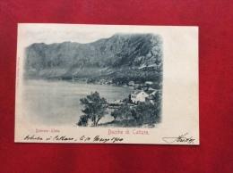 MONTENEGRO - BOCCHE DI CATTARO - DOBROTA - LJUTA    - VIAGGIATA A BOLOGNA NEL 1900 - Montenegro