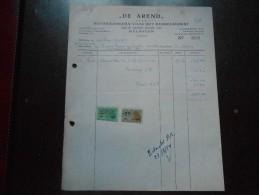 """""""De Arend""""  Mechelen   Benodigdheden Voor Het Meubelbedrijf   1954 - Petits Métiers"""