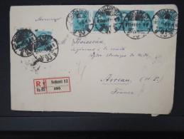 HONGRIE-Enveloppe En Recommandée De Budapest Pour La France En 1933  Vignettes Appareils Photo Au Verso LOT P5059