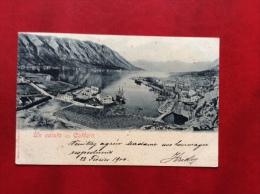 MONTENEGRO UN SALUTO DA CATTARO  - VIAGGIATA A BOLOGNA NEL 1900 - Montenegro