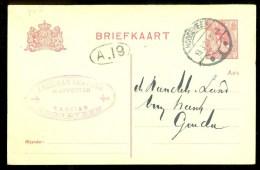 HANDGESCHREVEN BRIEFKAART Uit 1920 Van HOOGEVEEN Naar GOUDA * VOORDRUK + FIRMASTEMPEL   (9799r) - Postal Stationery