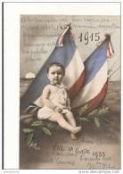 PATRIOTIQUE 1914 BEBE ET DRAPEAUX VIVE LA CLASSE 1935 CPA BON ETAT - Patriotiques