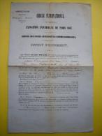 Contrat D'engagement Cercle International Exposition Universelle De Paris 1867 Guides Interprêtres Commissionnaires - 1800 – 1899