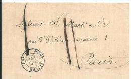 Montbeliard 1843 - Postmark Collection (Covers)