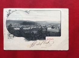 SLOVENIA - GRUSS AUS LAIBACH  - LUBIANA - VIAGGIATA A BOLOGNA 1901  -  EDITORE STENGEL -  DRESDEN - Slovenia